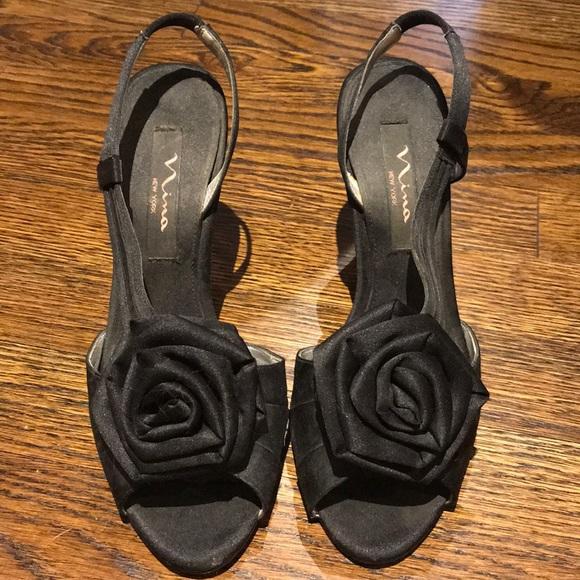 Nina Shoes   New York Black Heels